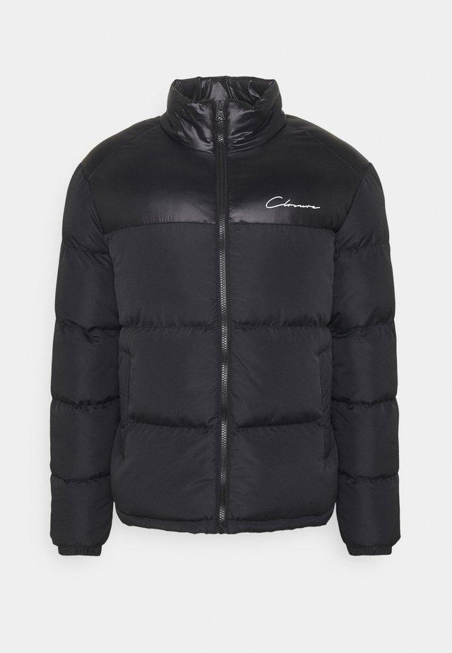 CONTRAST PANEL JACKET - Winter jacket - black