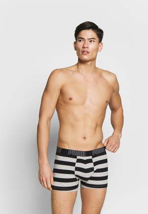 BOLD STRIPE BOXER 2 PACK - Pants - black