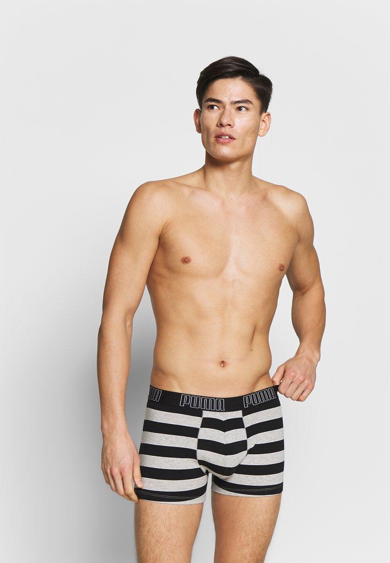 Puma - BOLD STRIPE BOXER 2 PACK - Panties - black