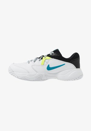 COURT LITE 2 - Multicourt tennis shoes - white/neo turquoise/hot lime/light smoke grey
