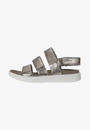 Walking sandals - metallic grey