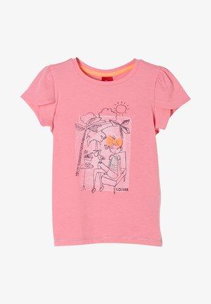 MIT TULPENÄRMELN - Print T-shirt - pink