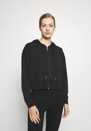 THE ULTRA SOFT ZIP THROUGH HOODIE - Zip-up sweatshirt - black