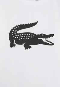 Lacoste Sport - BIG LOGO UNISEX - Print T-shirt - white/black - 2