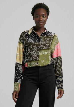Camicia - khaki/pink/black