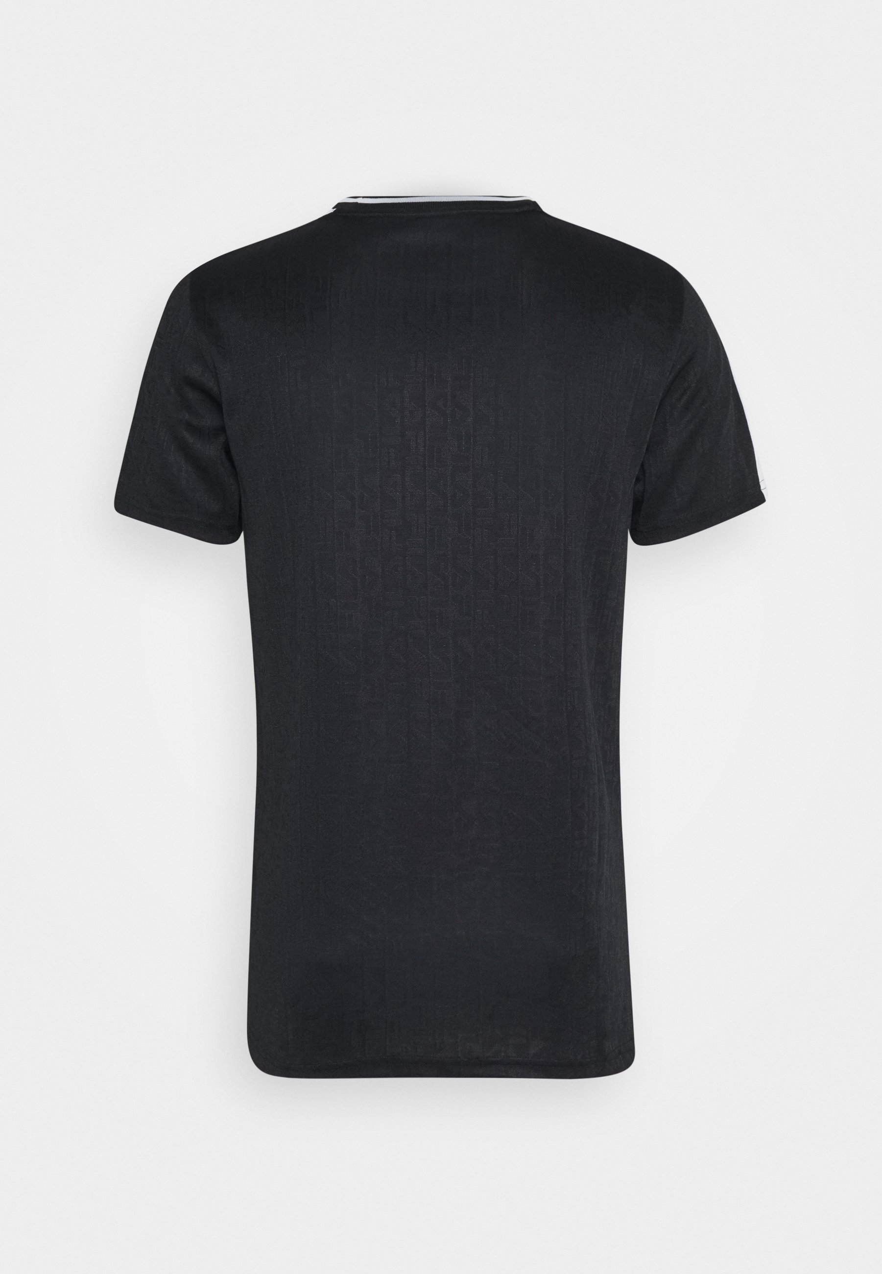 Fila Barke Logo Tee - T-shirts Med Print Black/bright White/svart