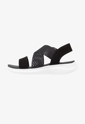 ULTRA FLEX - Wedge sandals - black