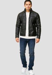 INDICODE JEANS - BROOK - Faux leather jacket - black - 1