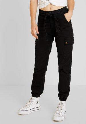SAN FRAN SELF BELT JOGGER - Pantaloni - black