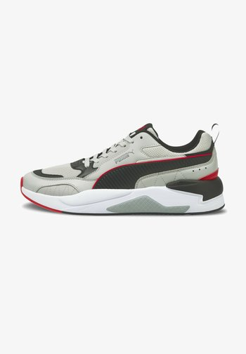 Sneakers laag - gray-black- red-quarry
