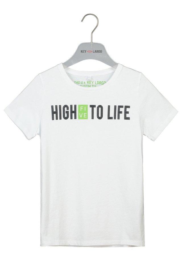 BT HIGH FIVE ROUND - Print T-shirt - white