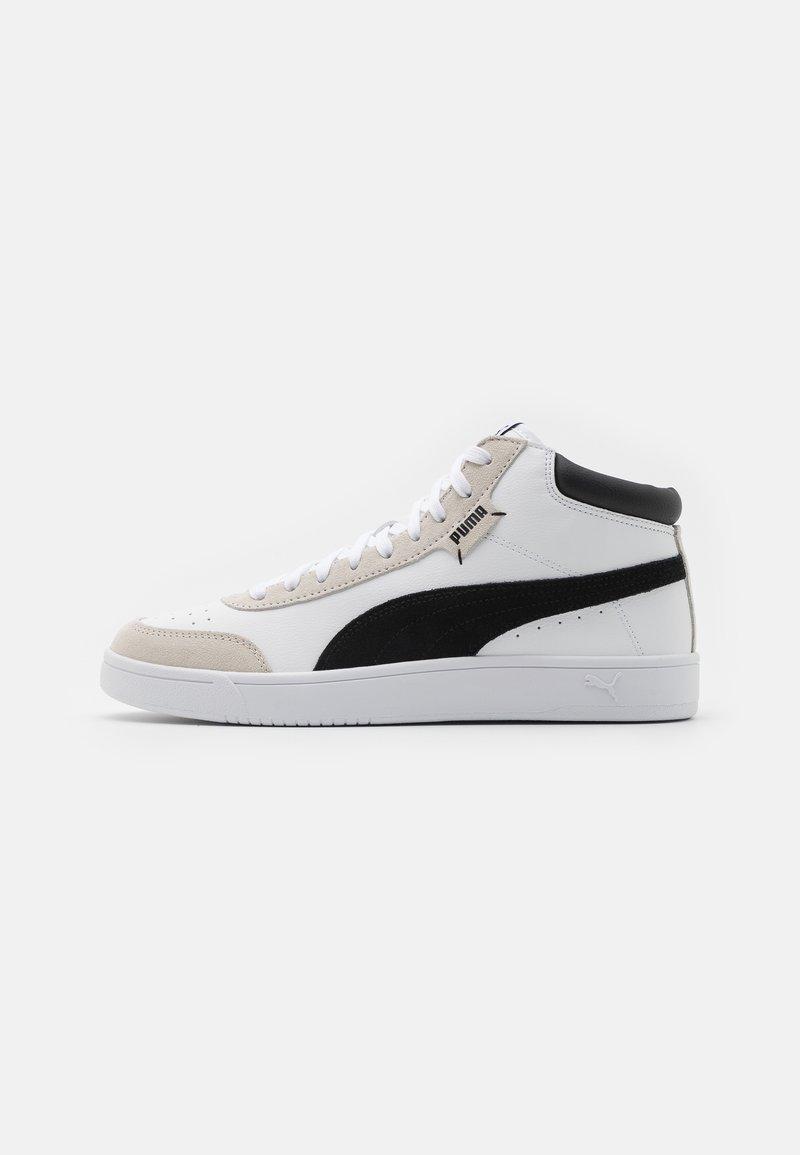 Puma - COURT LEGEND COLLAR UNISEX - Sneakers alte - white/black