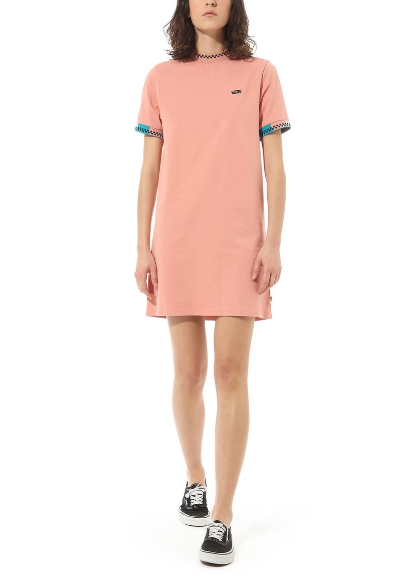 Vans - WM HI ROLLER TRI CHECK DRESS - Jersey dress - rose dawn