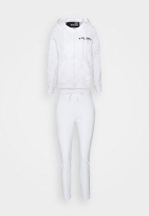 SET - Zip-up sweatshirt - optical white