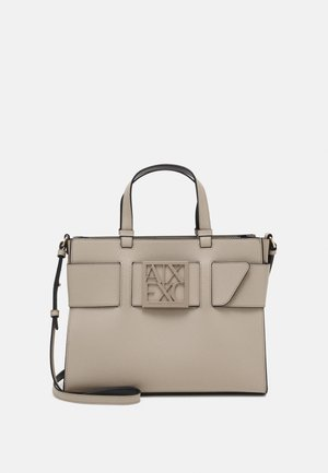 WOMANS BIG TOTE - Across body bag - taupe
