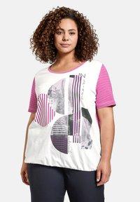 Samoon - T-shirt print - electric magenta gemustert - 0