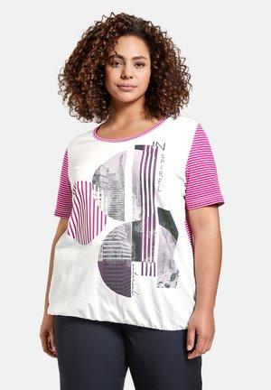 T-shirt print - electric magenta gemustert