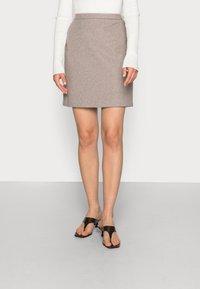 Esprit Collection - SKIRTS WOVEN - Mini skirt - caramel - 0