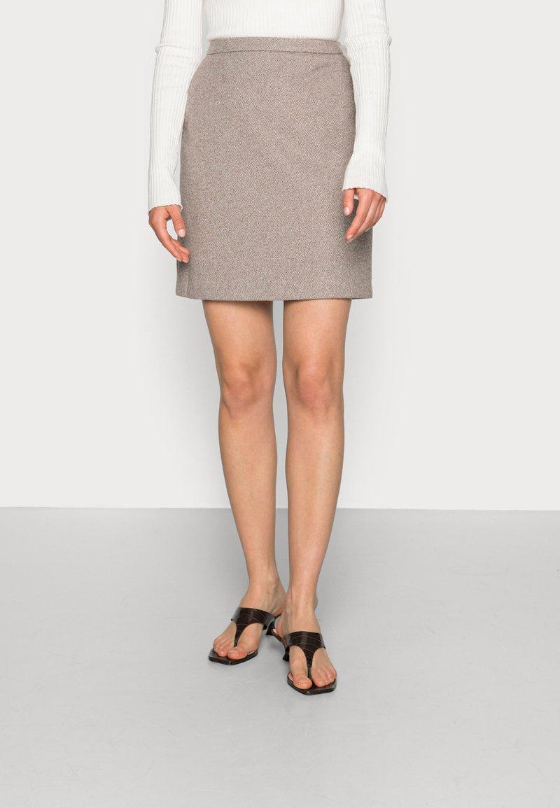 Esprit Collection - SKIRTS WOVEN - Mini skirt - caramel