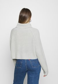 Missguided - ROLL NECK BATWING CROP JUMPER - Jumper - grey - 2
