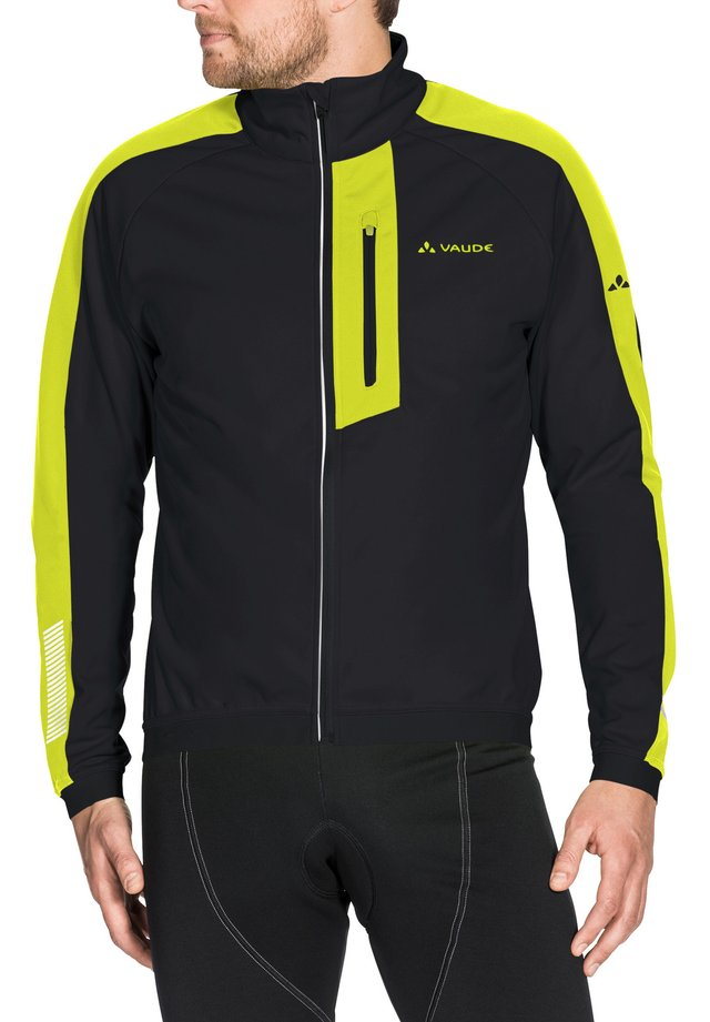 Soft shell jacket - black/yellow