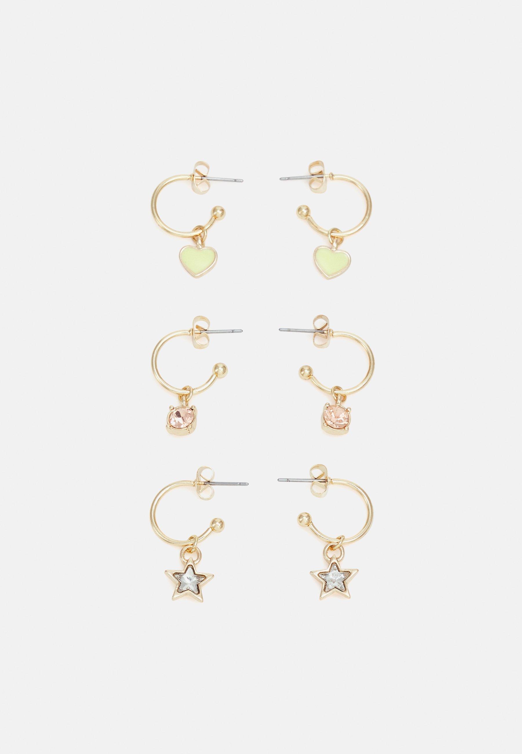 Women PCVILLA EARRINGS 3 PACK - Earrings