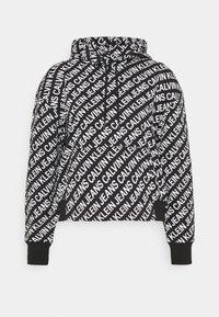 Calvin Klein Jeans - LOGO HOODIE - Hoodie - black/white - 4