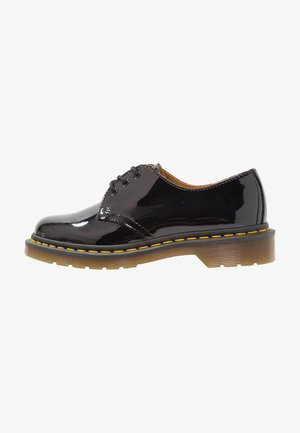 1461 3 EYE SHOE PATENT LAMPER - Stringate - black