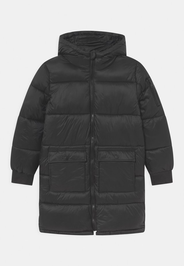 FINLEY LONGLINE PUFFER - Zimní kabát - black