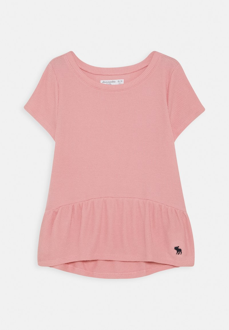 Abercrombie & Fitch - RUCHED TEE - T-shirt basic - blush