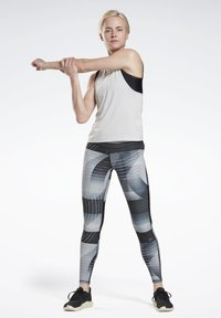 Reebok - RUNNING LUX BOLD LEGGINGS - Leggings - black - 1