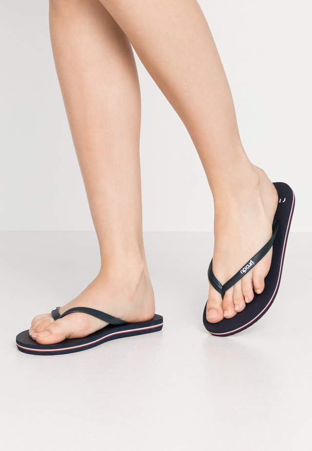 BONDI  - Teenslippers - navy/red