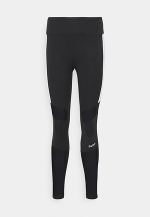 HIGH WAIST BLOCK TIGHT - Medias - black beauty
