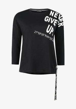 SCHRIFTZUG - Long sleeved top - schwarz/weiß
