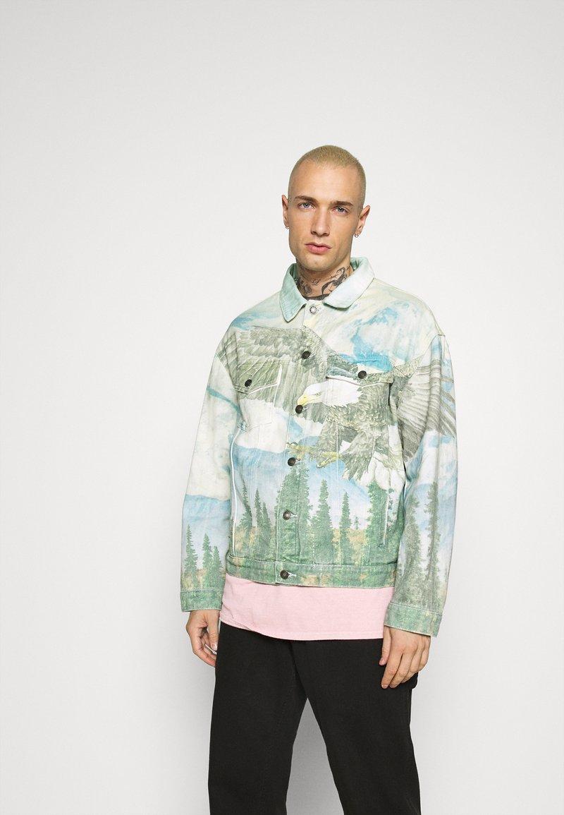 Jaded London - ALASKA LANDSCAPE WESTERN JACKET - Denim jacket - multi-coloured