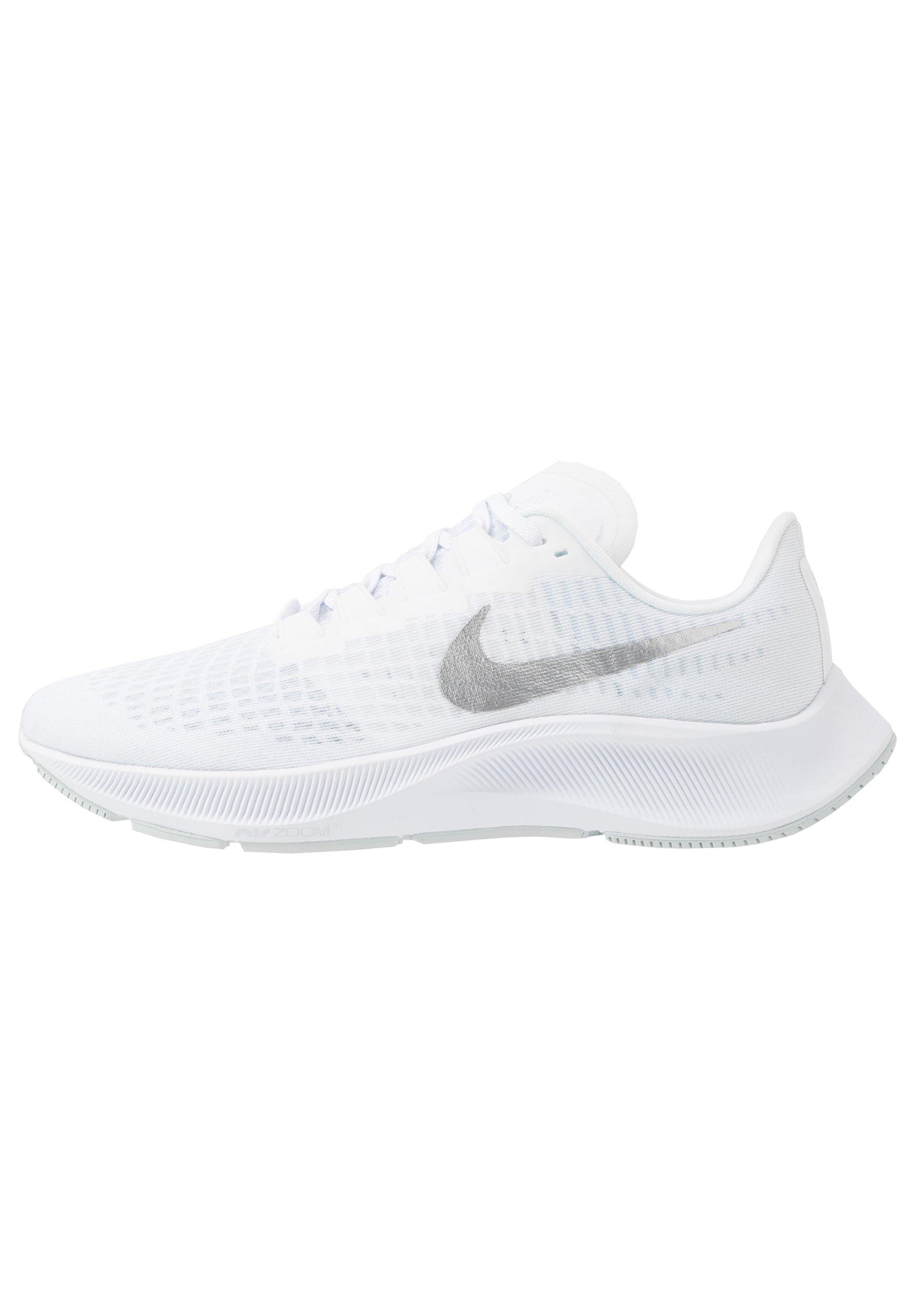 AIR ZOOM PEGASUS 37 - Chaussures de running neutres - white/metallic  silver/aura