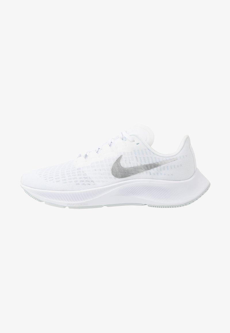 Nike Performance - AIR ZOOM PEGASUS 37 - Juoksukenkä/neutraalit - white/metallic silver/aura