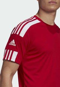 adidas Performance - SQUAD 21 - T-shirts print - team power red/white - 3