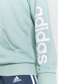 adidas Performance - veste en sweat zippée - haze green/white - 5