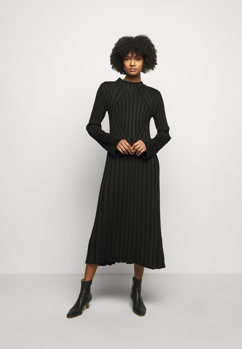 House of Dagmar - STINA - Jumper dress - black