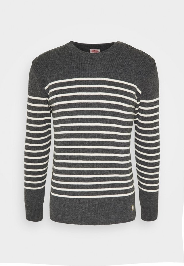 PULL MARIN MOLÈNE HÉRITAGE HOMME - Pullover - gris chine/naure