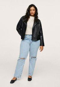 Mango - Leather jacket - schwarz - 1