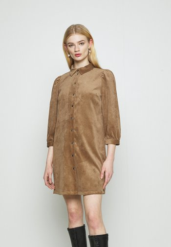 ONLRILLA PUFF DRESS - Shirt dress - toasted coconut