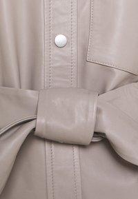InWear - OANNAIW - Leather jacket - ash grey - 2
