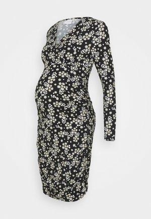 NURSING DRESS - Shift dress - black/flowers