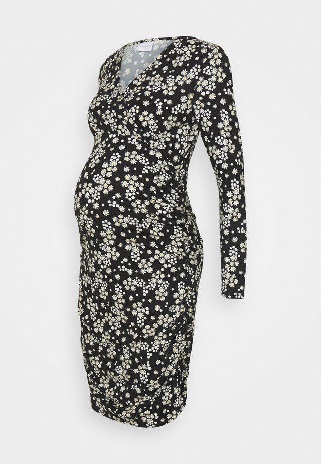 NURSING DRESS - Etuikjoler - black/flowers