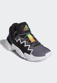 adidas Performance - D.O.N. ISSUE 2 UNISEX - Basketball shoes - core black/footwear white/solar red - 4