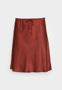 PULL ON DRAWSTRING - Mini skirt - rusted burg