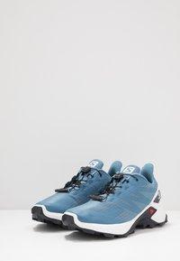 Salomon - SUPERCROSS  BLAST - Trail running shoes - copen blue/white/ebony - 2