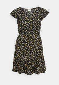 JDY - JDYGITTE SVAN CAPSLEEVE DRESS - Robe d'été - black /yellow - 3